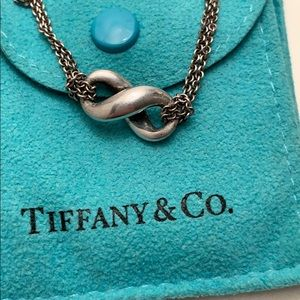Tiffany Double Chain Infinity Pendant